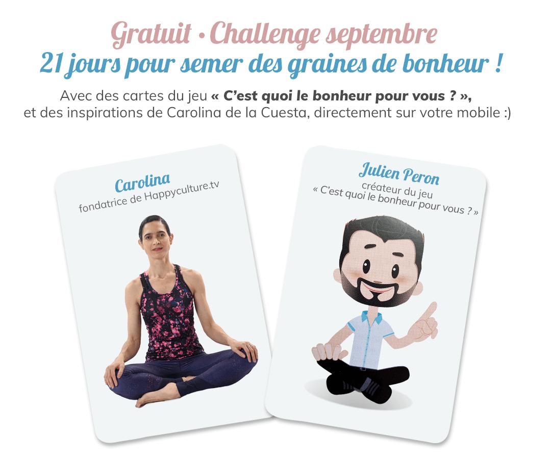 Happyculture Challenge Carolina de la Cuesta et Julien Peron